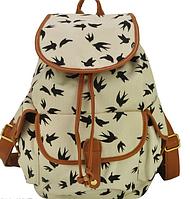 Рюкзак с ласточками белый 020