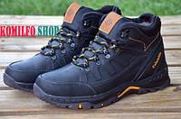 Мужские зимние кожаные ботинки Columbia NS black 42р