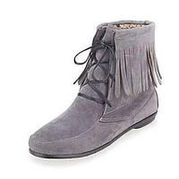 Для женщин Ботинки Удобная обувь Дерматин Демисезонный Осень Повседневные Для праздника Для прогулок Удобная обувь С кисточкамиНа плоской 05970501