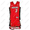 Баскетбольная форма НБА Майами Хит, Дуэйн Уэйд №3, красная