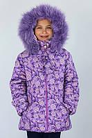 "Куртка зимняя для девочки ""Лаванда"", размер 128"