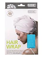 Тюрбан для сушки волос Smart Microfiber System Голубой
