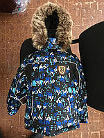 Детские зимние комбинезоны для мальчиков р.86-110 до -20 мороза наши зимы Сноуборд черные штаны с подстежкой