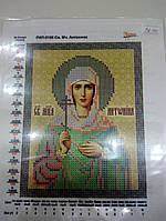 Основа для вышивания бисером, Именная икона, Маричка, Атлас, 13 см * 16,5 см, Св. Мч. Антонина
