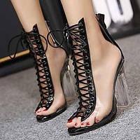 Для женщин Обувь ПВХ Полиуретан Лето Осень Удобная обувь Оригинальная обувь клуб Обувь Модная обувь Сандалии Для прогулок Каблук с 05737607