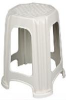 Табуретка детская белая Elif Plastik 303