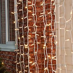 Гирлянда Штора 3х2 м уличная / LUX Curtain Light 800LED/ Белый кабель Каучук
