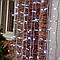 Гирлянда Штора 3х3 м уличная / LUX Curtain Light 960 LED/ Белый кабель Каучук, фото 3