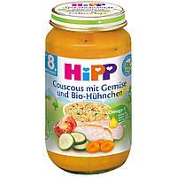 Детское пюре HiPP Кус-кус с овощами и цыпленка с 8-го месяца 220 г
