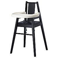 BLÅMES, стул высокий с поддончиком