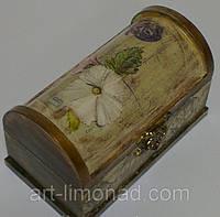 """Шкатулка деревянная """"Цветок"""", фото 1"""