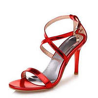 Для женщин Сандалии Оригинальная обувь клуб Обувь Лакированная кожа Материал на заказ клиента ЛетоСвадьба Для праздника Для вечеринки / 05700846