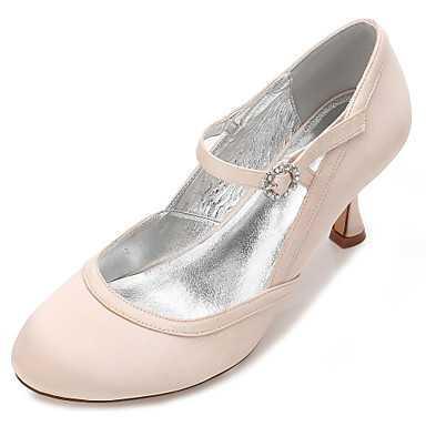 99e3d1d28a68 Для женщин Свадебная обувь Удобная обувь Туфли Мери-Джейн Туфли лодочки  Сатин Весна Лето Свадьба