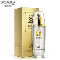Тонер с протеинами шелка и экстрактом гамамелиса BIOAQUA Silk Protein Aqua Shiny Toner