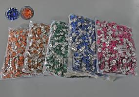 Камешки-цветы  на металлической основе 11 мм 2000 шт