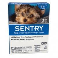 Sentry СЕНТРИ КАПЛИ от блох, клещей и комаров для собак весом до 7 кг 1 пипетка