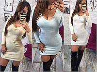 Женское мини-платье из люрекса