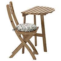 ASKHOLMEN, столик настенный+1 состоят из костной ткани, посетителей, зов