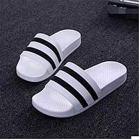Белый Черный-Для женщин-Повседневный-Полиуретан-На плоской подошве-Удобная обувь-Тапочки и Шлепанцы 05732173