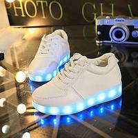 Унисекс-Для прогулок Повседневный Для занятий спортом-Полиуретан-На плоской подошве-Удобная обувь Оригинальная обувь Light Up обувь-Кеды 05651605