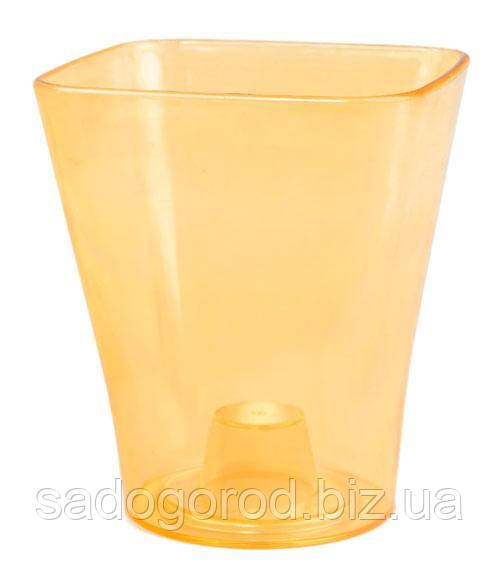 """Горшок для орхидей """"Квадро"""" (кашпо) оранжевый, 130*90*150, объем 1,3 л"""