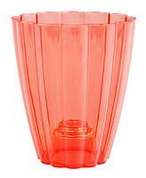 """Горшок для орхидей """"Ромашка"""" (кашпо) красный, 140*85*165 мм, объем 1,5 л"""