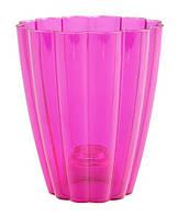 """Горшок для орхидей """"Ромашка"""" (кашпо) розовый, 140*85*165 мм, объем 1,5 л"""