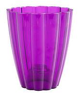 """Горшок для орхидей """"Ромашка"""" (кашпо) фиолетовый, 140*85*165 мм, объем 1,5 л"""