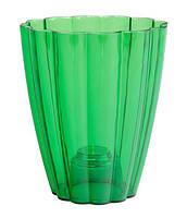 """Горшок для орхидей """"Ромашка"""" (кашпо) зеленый, 140*85*165 мм, объем 1,5 л"""