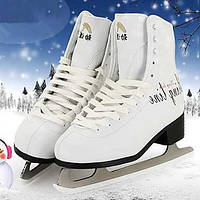 Для женщин Спортивная обувь ПВХ Весна Лето Осень Зима Атлетический Лыжная обувь Раздельная подошва Белый 4,5 - 7 см 05253907