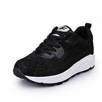 Черный / Серебристый-Женский-Для занятий спортом-ТканьУдобная обувь-Спортивная обувь 05433325
