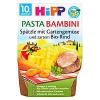 Детское пюре HiPP Лапша с овощами и нежной говядины с 10 месяцев 440 г