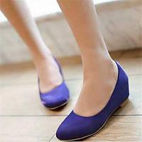 Для женщин На плокой подошве Удобная обувь Полиуретан Зима Повседневный На плоской подошве Красный Синий На плоской подошве 05685560