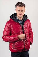 Куртка мужская спортивная, пуховик №249KF001 (Красный)