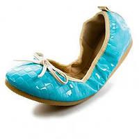 Синий / Розовый / Бежевый / Темно-красный-Женская обувь-На каждый день-Синтетика-На плоской подошве-Балетки / С круглым носком-На плокой 05126740