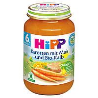 Детское пюре HiPP морковь с кукурузой и теленка от 6-го месяца 190 г