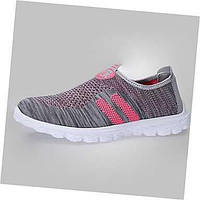 Для женщин Удобная обувь Тюль Повседневные На плоской подошве Черный Серый Пурпурный Зеленый 05059210