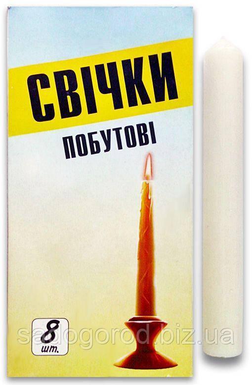 Свеча хозяйственная 80 г 200 мм*25, 8 шт в упаковке