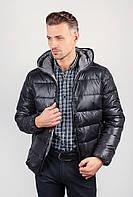 Куртка мужская спортивная, пуховик №249KF001 (Черный)
