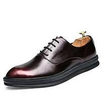 Для мужчин обувь Свиная кожа Весна Лето Осень Зима Формальная обувь Туфли на шнуровке Для прогулок Шнуровка Назначение Свадьба Для 06042041