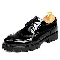 Для мужчин обувь Кожа Весна Лето Осень Зима Удобная обувь Ботильоны Туфли на шнуровке Для прогулок Заклепки Шнуровка Назначение Свадьба 05737344