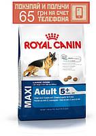 Корм Royal Canin Maxi Adult 5+, для взрослых собак крупных пород, 4 кг + ПОДАРОК 65 грн на мобильный