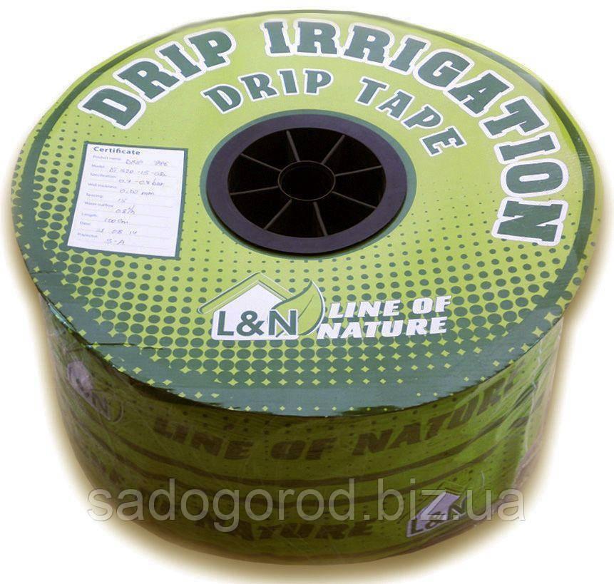 Капельная лента эмиттерная L&N, 16мм х 0.20мм, 0,8л/ч, капельницы ч/з 15см, 1000м
