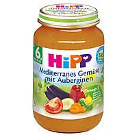 Детское пюре HiPP редиземноморские овощи с баклажанами с 6 месяцев 190 г