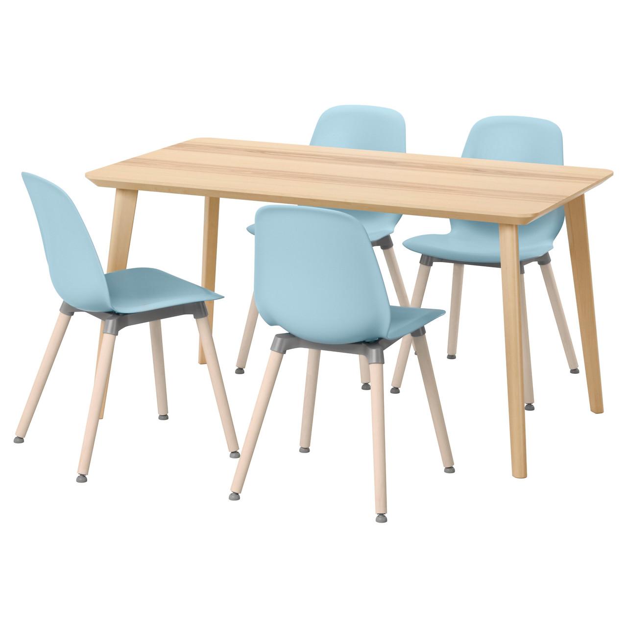 LISABO / LEIFARNE, стол и 4 стула