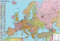 Карта Европы политико-административная 1:3 850 000 160х110 картонная