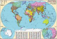 Карта мира политическая 1:22 млн  картонная на планках 509 ИПТ