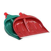 Садовая лопата снегоуборочная пластмассовая большая с ручкой оц.наконечник без черенка (41*43) 1/6, Лемира