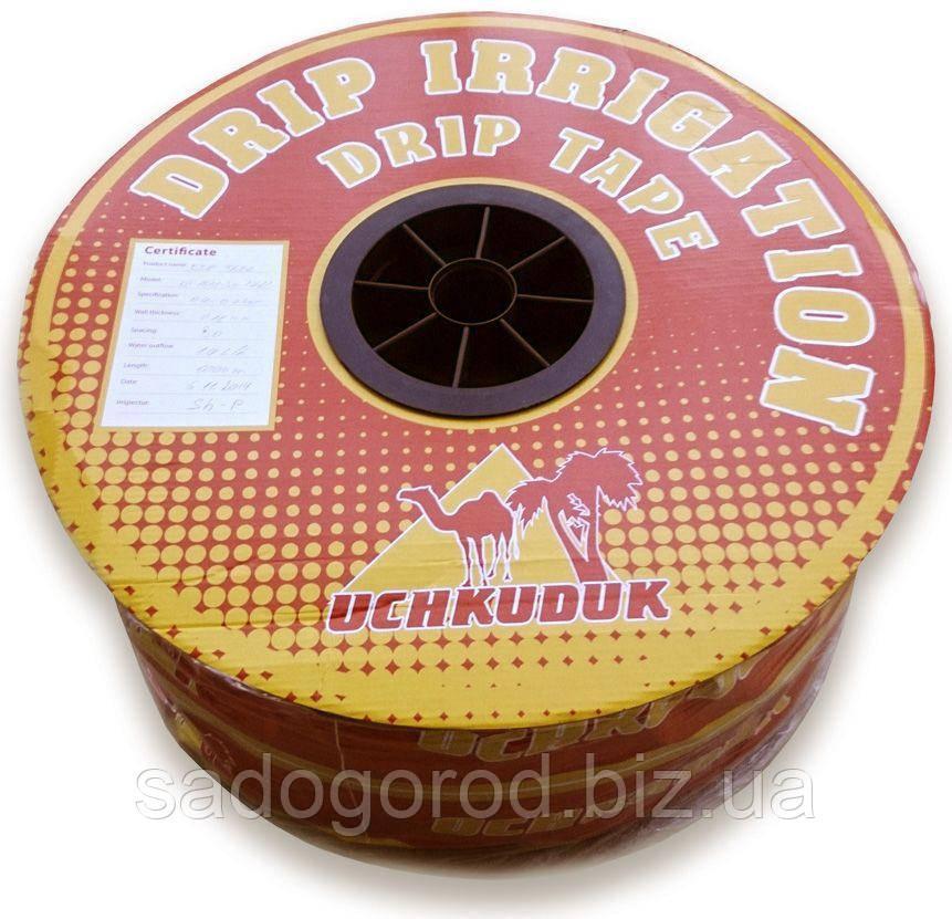 Капельная лента эмиттерная UCHKUDUK, 16мм х 0.18мм, 1,4л/ч, капельницы ч/з 30см, 1000м