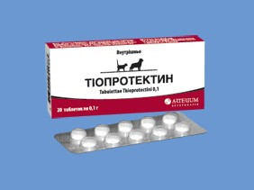 Тиопротектин 20 таб/уп кардиогепатопротектор для собак и кошек